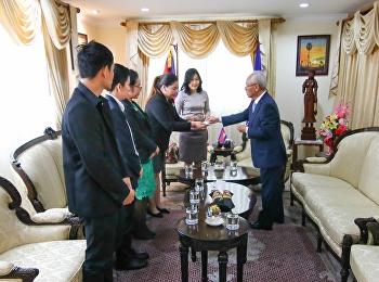เข้าคารวะสวัสดีปีใหม่และแสดงความยินดีในการได้รับการแต่งตั้งในตำแหน่งเอกอัครราชทูตวิสามัญผู้มีอำนาจเต็ม ประจำสถานทูตสาธารณรัฐประชาชนกัมพูชา ประจำประเทศไทยแด่ H.E. Mr. Long Visalo
