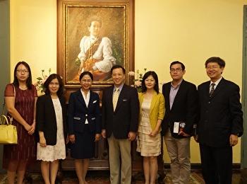 สำนักศิลปะและวัฒนธรรม ยินดีต้อนรับ รองศาสตราจารย์ ดร.นันทิยา น้อยจันทร์ คณบดีคณะครุศาสตร์ และ Weng Xingang Ph.D. - Vice President พร้อมคณะผู้บริหารจาก Beijing Wuzi University