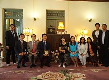 สำนักศิลปะและวัฒนธรรม ได้ต้อนรับ Professor Dr.Doo Han Park อธิการบดีจาก Sahmyook Health University College สาธารณรัฐเกาหลีใต้ พร้อมคณะผู้บริหาร