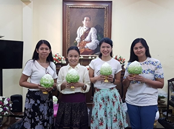 Pictures collection from Phan Phum (flower offerings arranged with lotus flowers), Flower Handicraft activity in Night at the Museum 8: Colorful Sunset at Saisuddha-Nobhadol on 16 December 2018.