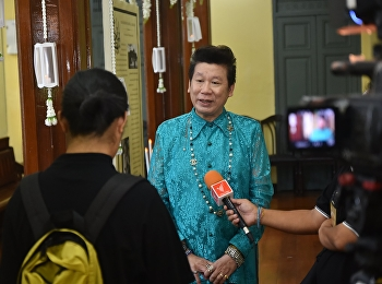 Anantachai  Aeka, the Director of the Office of Arts and Culture gave interview to Thai PBS, and mono29, Thailand's TV stations.
