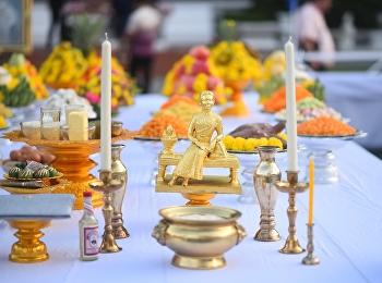พิธีบำเพ็ญกุศลทักษิณานุประทาน เนื่องในวันคล้ายวันพระราชสมภพ สมเด็จพระนางเจ้าสุนันทากุมารีรัตน์ พระบรมราชเทวี ครบรอบ ๑๖๐ ปี วันอังคารที่ ๑๐ พฤศจิกายน ๒๕๖๓ ณ อาคารสายสุทธานภดล