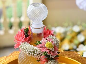 Water Sprinkle Ceremony on Songkran Festival 2021 in New Normal
